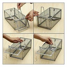1 Door Animal Trap Steel Cage for Small Live Rodent Control