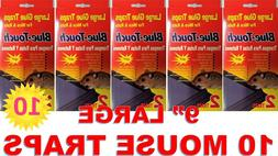 """10 9"""" LARGE Blue Touch MOUSE TRAP Glue Rat Mice Rodent Pest"""