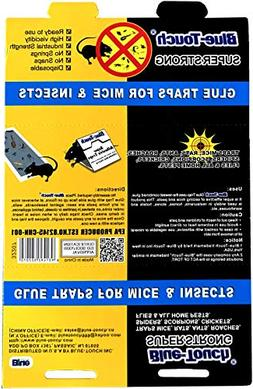 Blue Touch Mouse Glue Traps, Peanut Butter Scented Best Glue