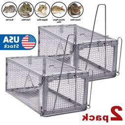 2x Rat Trap Cage Small Live Animal Pest Rodent Mouse Control