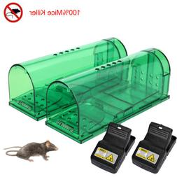 2x Rodent Animal Mouse Humane Rat Live Trap Cage Mice Rat Ba