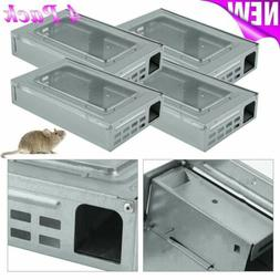 4 Tin Cat style LIVE Mouse Trap with window Multi Catch Mice