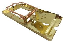 made2catch Pack of 4 Classic Metal Rat Traps Brass Coated -