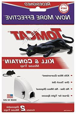 Tomcat Kill and Contain Mouse Trap, 2Pack, New, Free Shippin