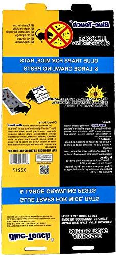 Blue Touch Extra Large Strong Rats Glue Traps, Peanut Butter