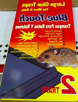 LARGE GLUE TRAPS FOR MICE & RATS BLUE-TOUCH 2 TRAPS