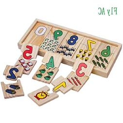 TomTomPro Montessori Self-Correcting Wooden Number Puzzles w