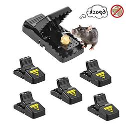 Mouse Trap 6 Pack Mouse Catcher with Bait Cup, Instantly Sna