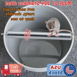 Stainless steel Mice Rats Mouse killer Trap log Grasp Bucket